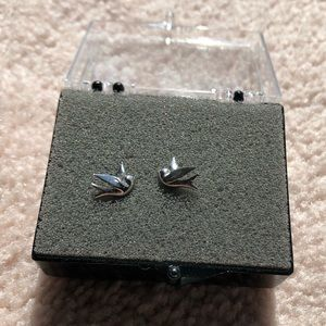 JUICY COUTURE sliver dove earrings